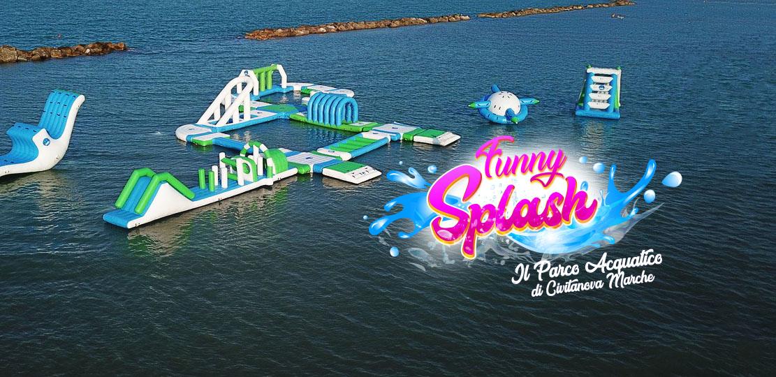 foto drone parco acquatico civitanova marche