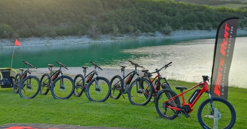 Noleggio e-bike e mountain bike al Lago di Fiastra